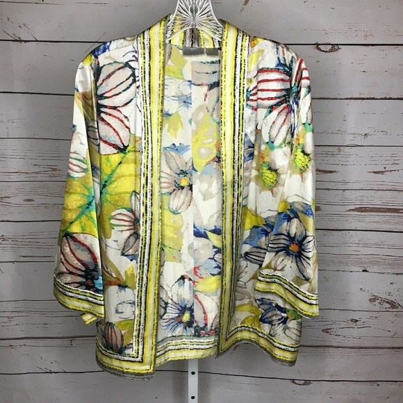 NEW YORK /& COMPANY WOMEN SIZE M L XL 100/% SILK FLORAL TOP CAMI BLOUSE SHIRT